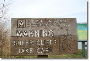 cliff warning A