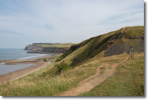 end of cliff path