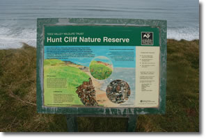 Hunt Cliff Nature Reserve information board