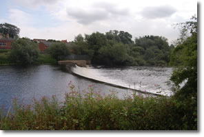 above Tadcaster weir