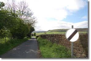 Esk Valley Walk taking to the road
