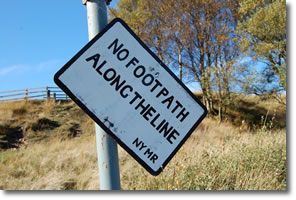 no footpath on line