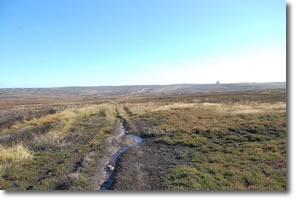 stream to left Fylingdales to right