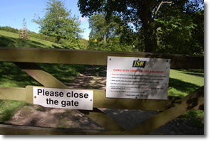 reminder to close the gate