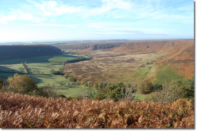 looking back down the Hole of Horcum
