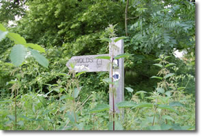 old Wolds Way signpost