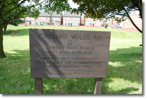 Yorkshire Wolds Way 21st celebration board