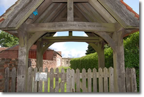 gates into St Marys Church Fridaythorpe