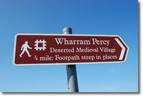 Wharram Percy Deserted medieval Village sign