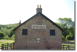 Wharram sign on side of house