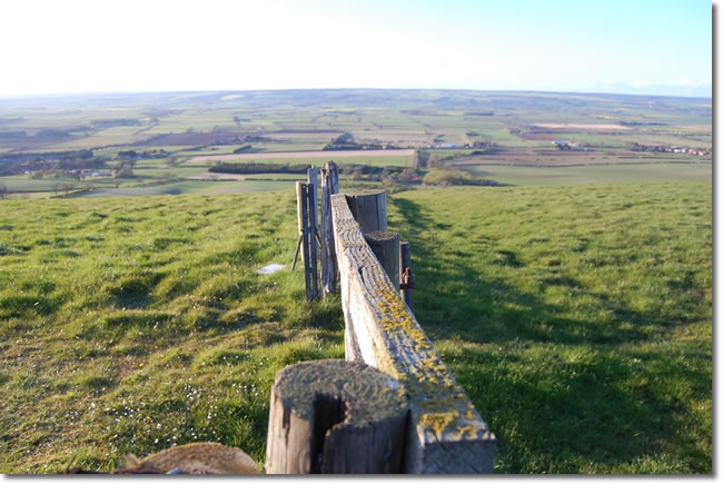 looking over the Vale of Pickering